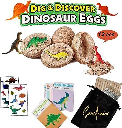 Amazon.com: SRDX Dig It Up huevos de dinosaurio. 12 juguetes ...