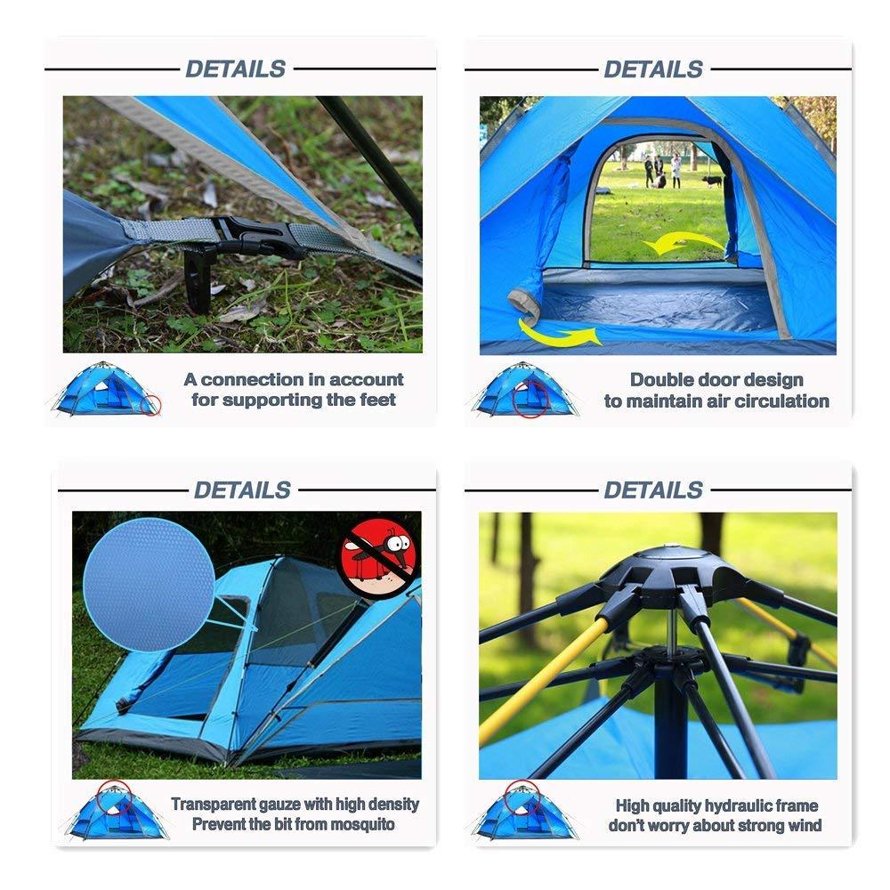 Likorlove Tenda Pop Up Da Campeggio per 2-3 Posti Protezione UV Apertura Istantanea Leggero da Portare