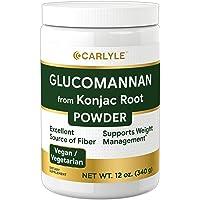 Glucomannan Powder | 12 oz | Vegan & Vegetarian | Non-GMO, Gluten Free | Konjac...