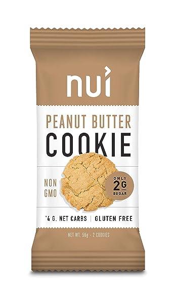 Keto Cookies Low Carb Snacks Peanut Butter Cookies By Nui 4g Net Carbs 8 Pack 16 Cookies