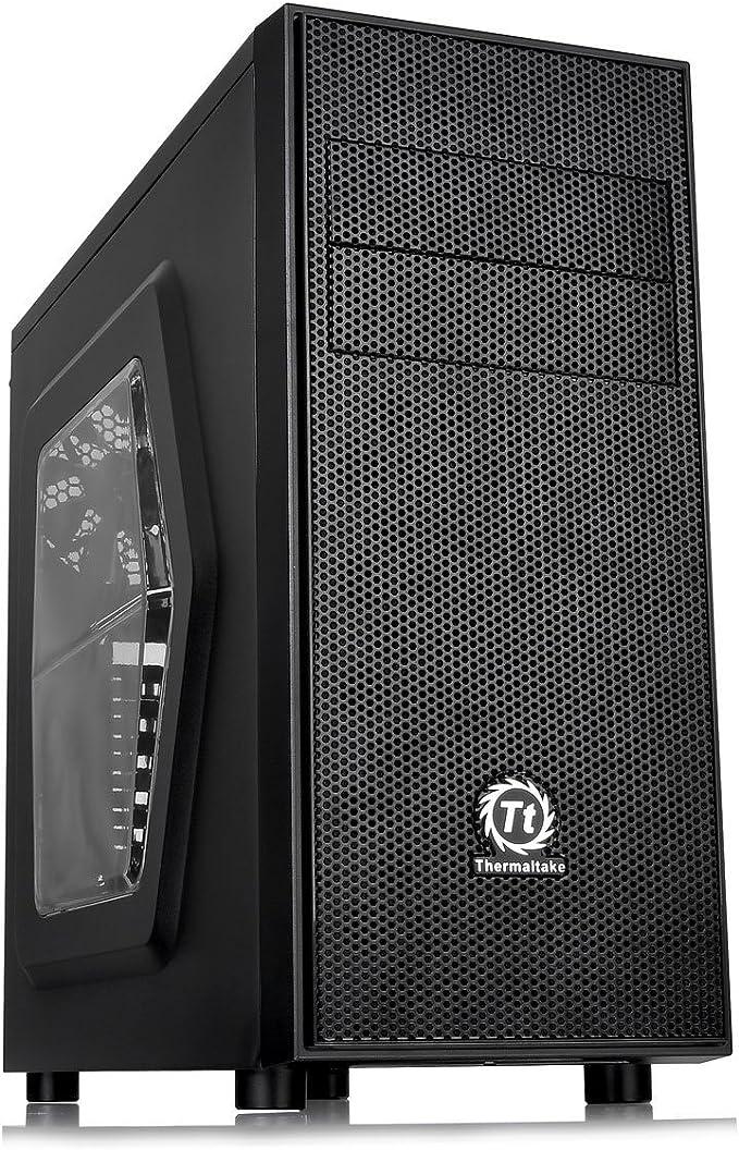 Thermaltake Versa H24 - Window - Caja de Ordenador (Midi-Tower, PC, SPCC, ATX, Micro-ATX, Juego, Negro): Amazon.es: Informática
