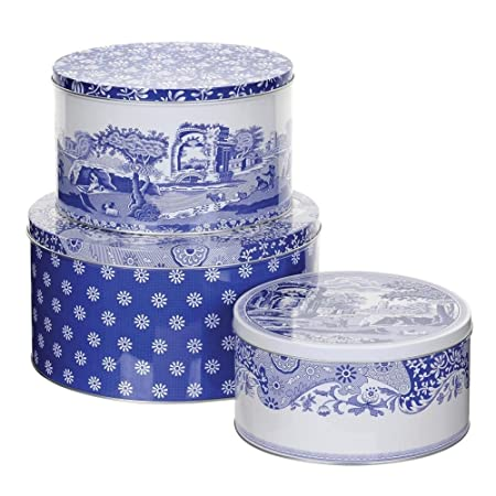 Spode – Blue Italian Set of 3 Cake Tins