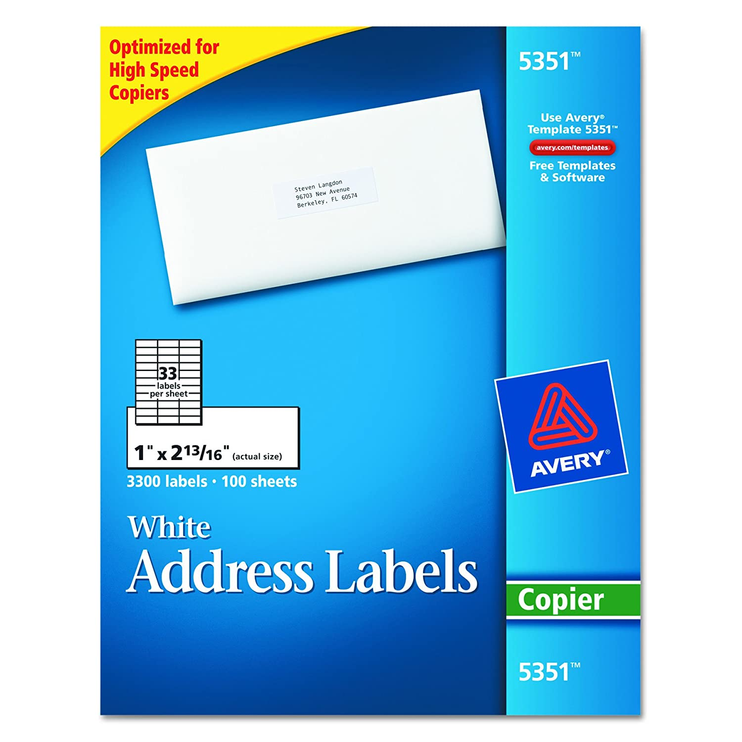 Avery 5351 self adhesive address labels for copiers white 1 x 2 13 avery 5351 self adhesive address labels for copiers white 1 x 2 1316 3300box amazon office products saigontimesfo