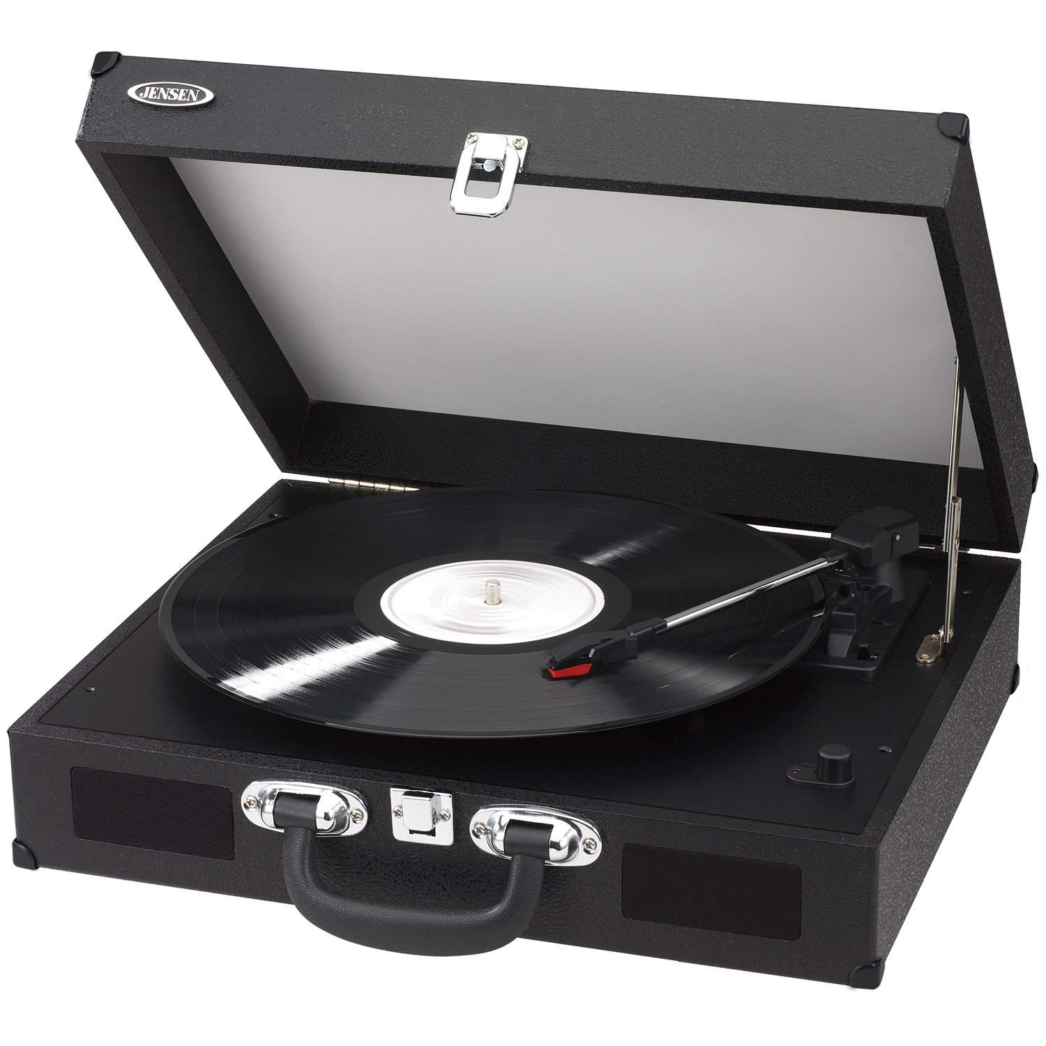 Amazon.com: Jensen JTA 410 R Portable 3 Speed Stereo Turntable With  Built In Speakers (Red): Home Audio U0026 Theater
