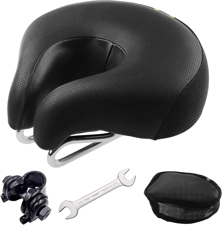 Noseless Big Bum Soft Padded Bike Seat Cushion Bicycle Saddle Gel Saddle