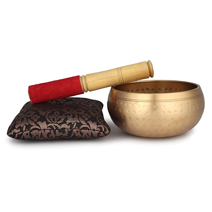 Zap Impex® Schöne Nueva mano gehämmerten latón cuenco tibetano de meditación Yoga tibetano cuencos de 5,5 pulgadas