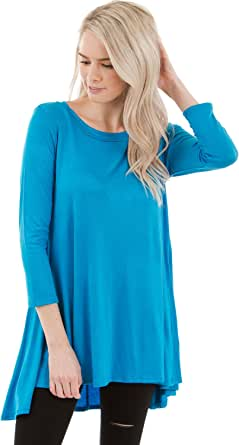 Frumos Womens Tunic Loose Fit Long Tunic Top Made in USA