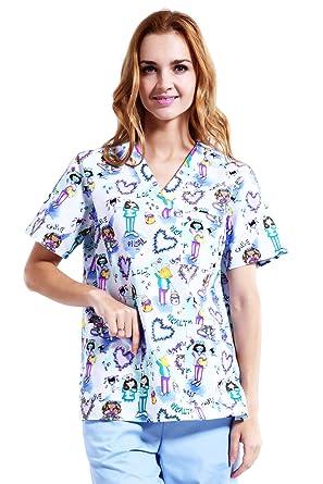 c2ac4316e5f ANNO Medical Uniform Women and Man Scrubs Set Medical Scrubs Top and Pants  (XX-