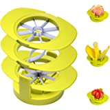 Anawin Apple Slicers, 4 in 1 Multifunctional Apple Cutter Common Base, Mango Corer Remover, Tomato Cutters, Pear Divider,Stai
