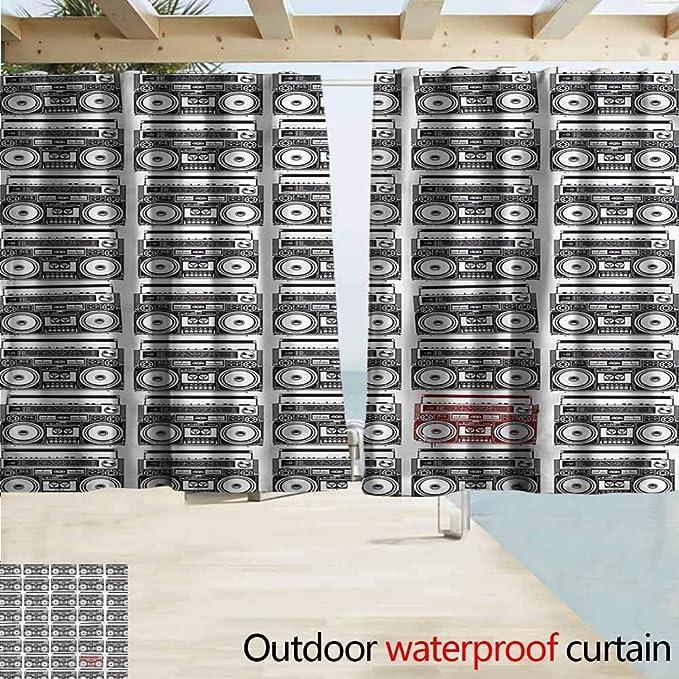 Beihai1Sun - Cortina para Puerta corredera, diseño con Texto en inglés 90s I Love 90s Hearts Good Old Days: Amazon.es: Jardín