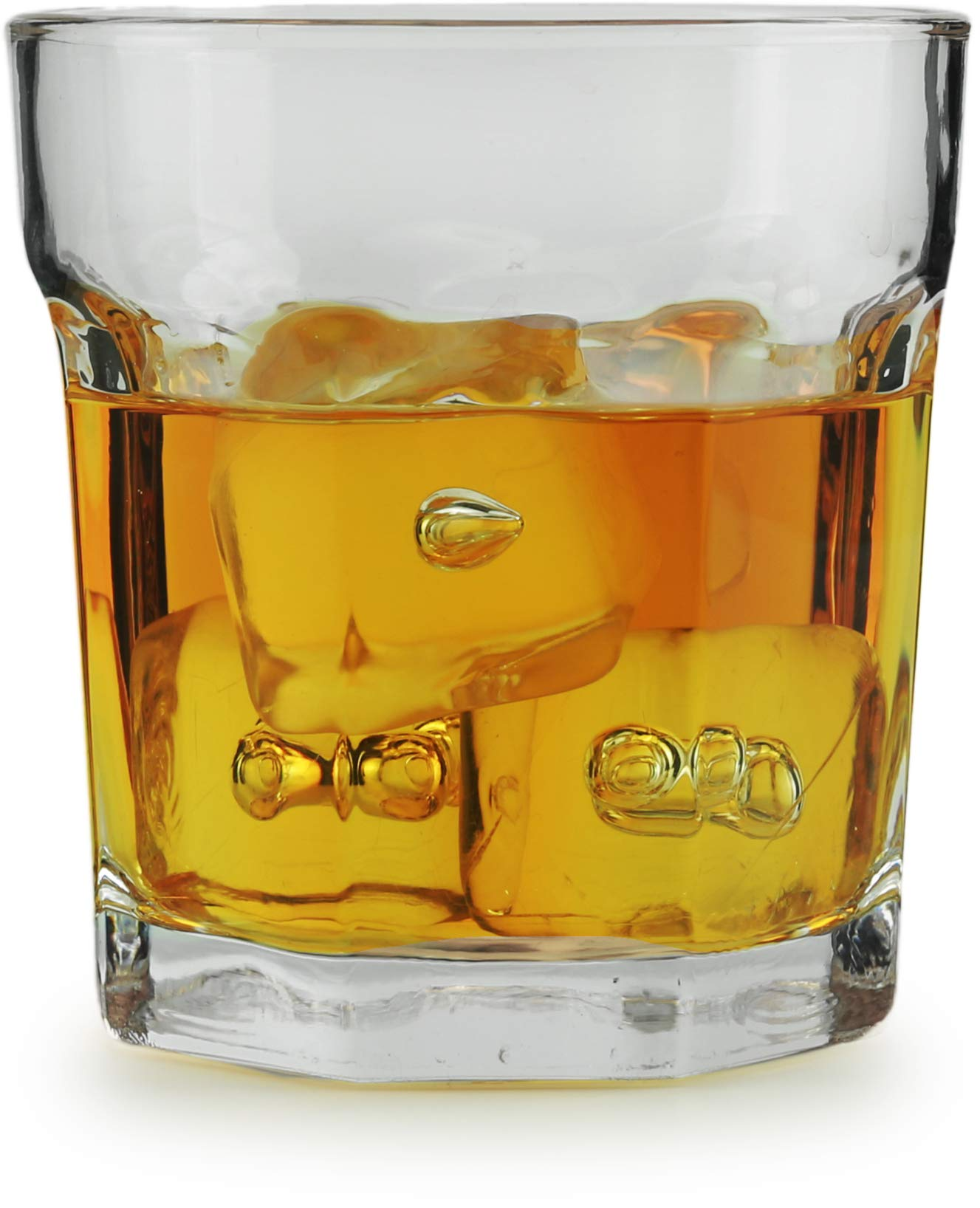 Circleware Heavy Base Whiskey Glass, Set of 6, Home & Kitchen Party Dining Entertainment Beverage Drinking Glassware Cups for Water, Juice, Beer and Bar Liquor Decor Gifts, 10.4 oz Rock Riverton