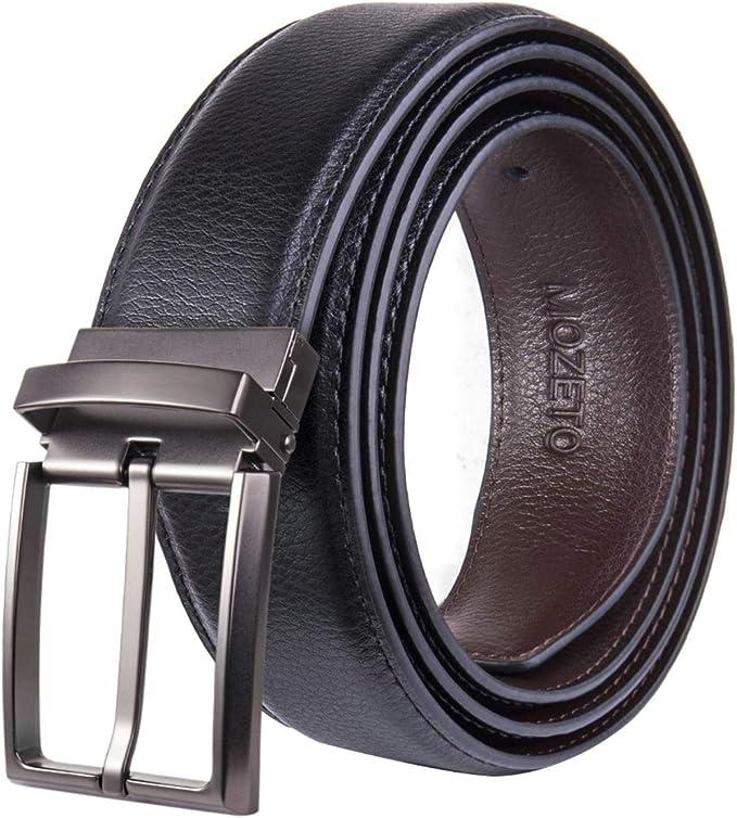 Herren Leder Gürtel für Freizeit und Business Ledergürtel echt Leder Automatik 1