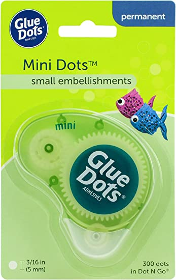 "Glue Dots .1875/"" Mini Dot Sheets Value Pack-600 Clear Dots"
