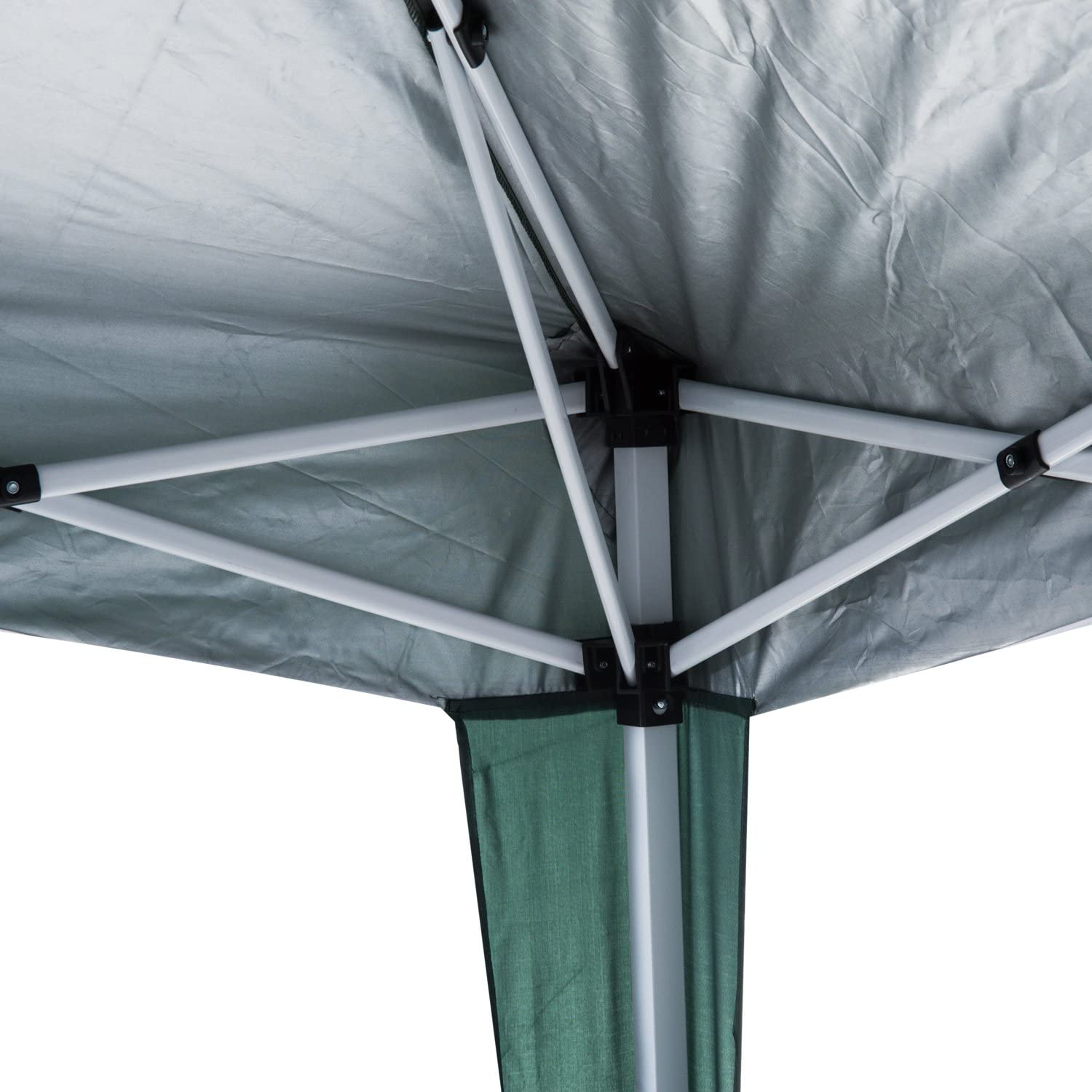 Outsunny 3M x 3M Pop-up Tent Garden Gazebo Outdoor Awning Heavy Duty Marquee Party Shelter Sun Shade Black