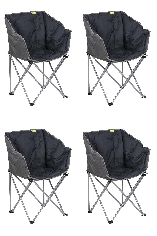 Kampa Badewanne Camping Klappstuhl anthrazit X 4