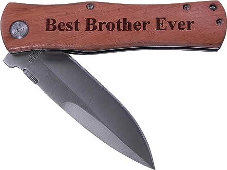 Amazon.com: Best Brother Ever – Navaja plegable regalo ...