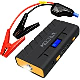 MOCRUX Car Jump Starter, 500A 13600mAh Portable Jump Starter Power (Up to 4.2L Gasoline and 3.0L Diesel), Emergency Car Battery Booster Charger with Dual USB Ports LCD Screen & LED Flashlight