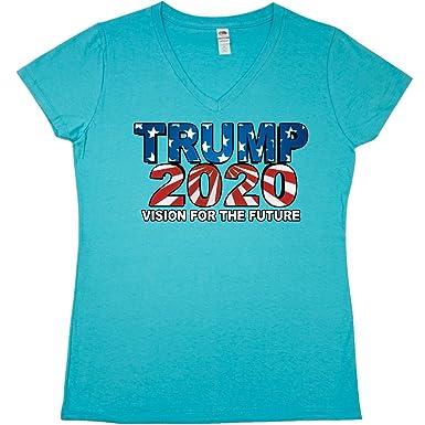 fb5751d98 Amazon.com: inktastic - Trump 2020 Junior V-Neck T-Shirt 2cd0d: Clothing