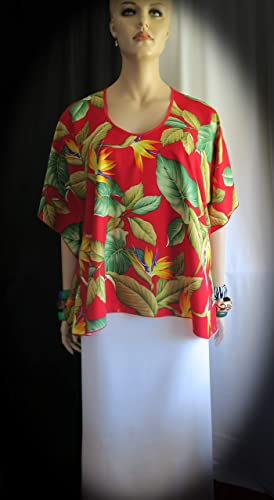 24ee74d6e918c Image Unavailable. Image not available for. Color: Aloha Bird of Paradise Hawaiian  Polynesian Clothing Woman's Butterfly caftan ...