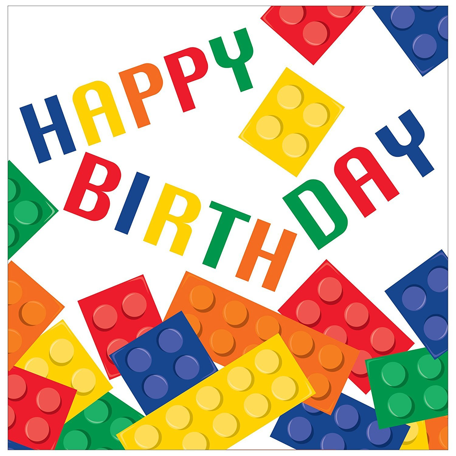 Creative Converting 16-Count 3-Ply Lunch Napkins with Happy Birthday (48 Pack)