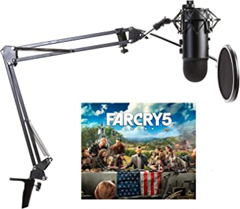 Blue Yeti Microphone + Far Cry 5 Game + Arm + Shock Mount + Pop Filter