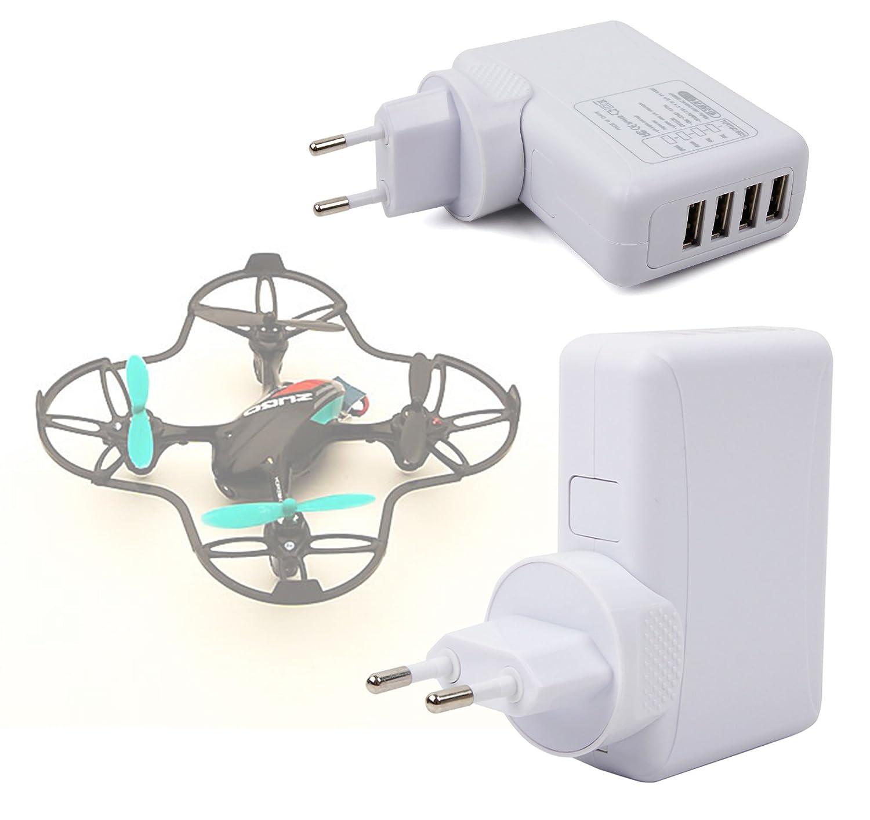 DURAGADGET Cargador De Viaje Blanco para Dron EACHINE E010 Mini ...