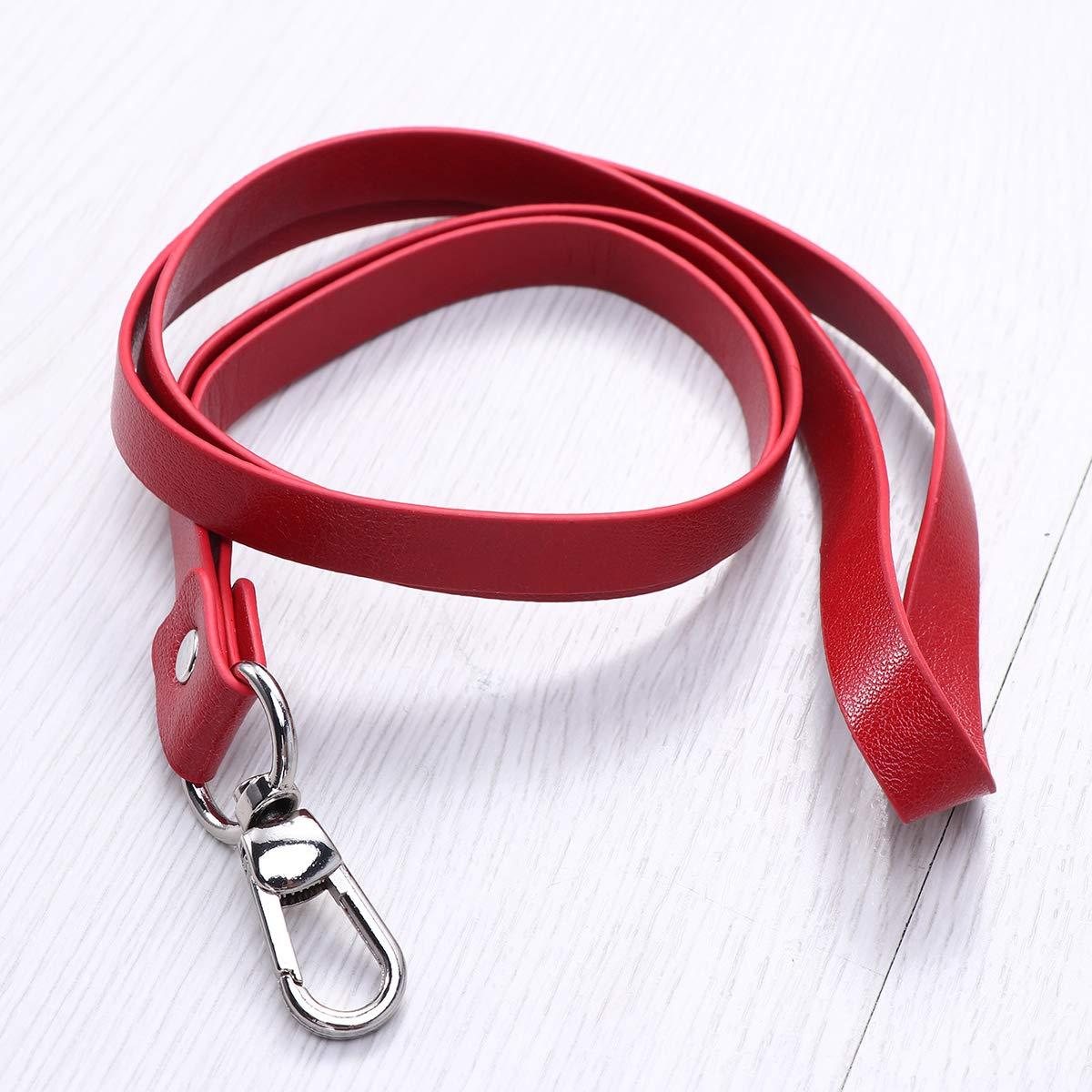 YeahiBaby verticale titolari di carta in pelle con clip staccabile e cordino per il collo girevole rosso