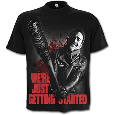 e3c51be02 Spiral - Mens - Negan - JUST Getting Started - Walking Dead T-Shirt Black