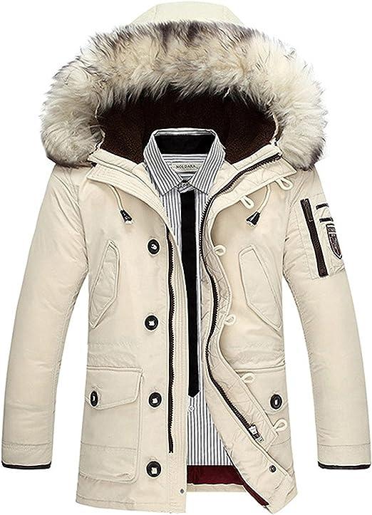 Tomwell Herren Daunenmantel Daunenjacke Outdoorjacke Steppjacken Mit Fellkapuze Down Jacket Warme Mäntel Winterjacke Trenchcoat