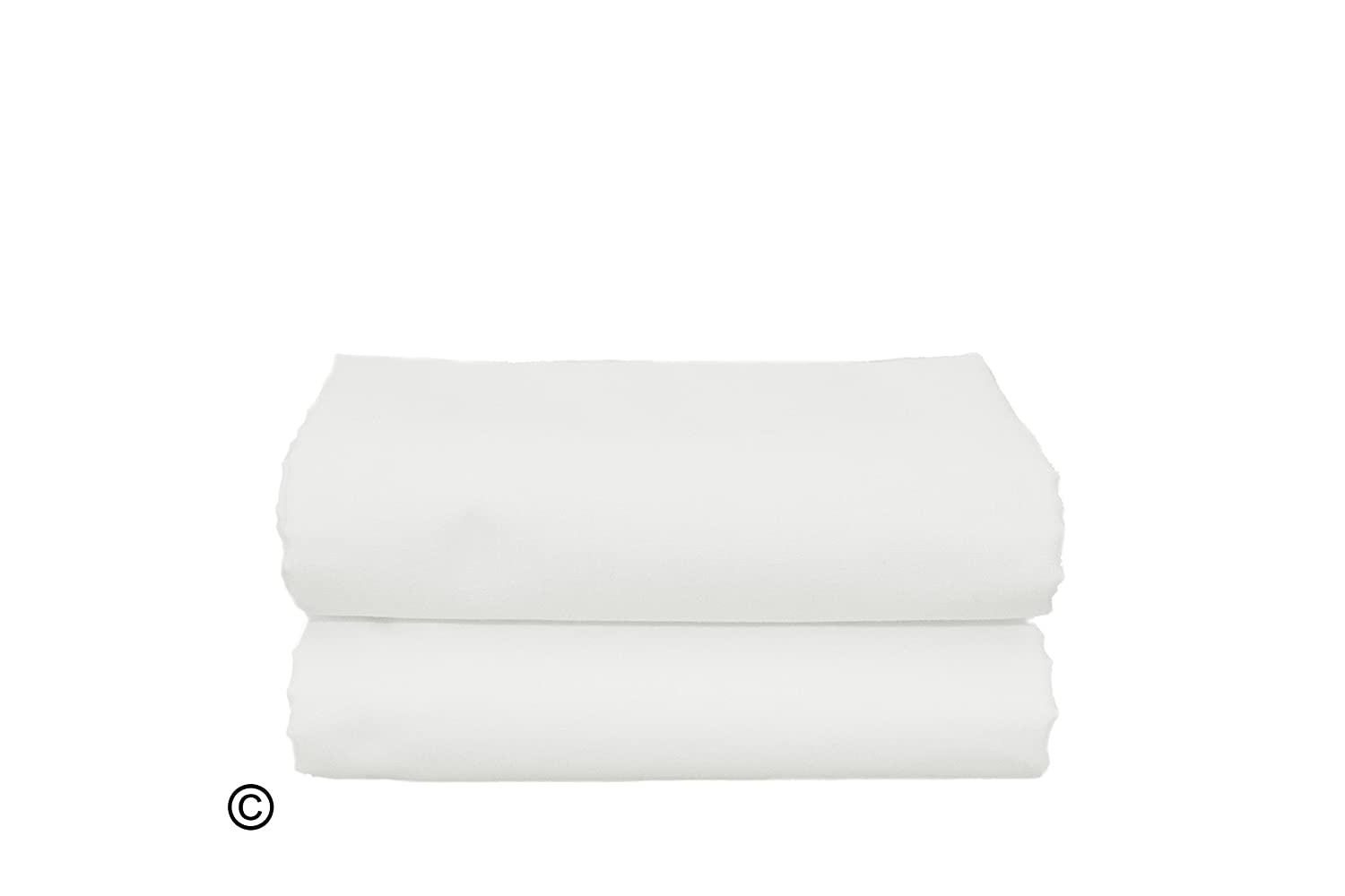 Cot Bed Pillow Case 100% Cotton White SOFTOUCH