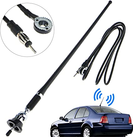 BRAND NEW CAR TRUCK REPLACEMENT AM//FM STEREO RADIO ANTENNA CHROME UNIVERSAL TYPE