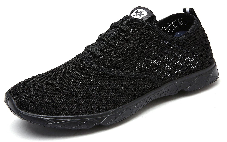 Dreamcity Women's Water Shoes Athletic Sport Lightweight Walking Shoes B07D4KFV55 8.5 B(M) US,Black White 锛?