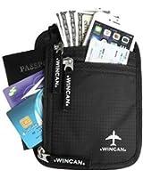 WINCAN RFID Neck Wallet Blocking- Concealed Passport Holder & Travel Pouch
