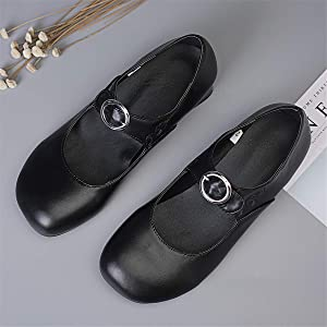 Womens Classic Round Toe Ballet Flats Loafers Casual Comfort Slip on Dress Pump Shoes