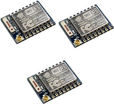 HiLetgo 3pcs ESP8266 ESP-07 Serial WIFI Wireless Transceiver Wireless Module LWIP AP+STA