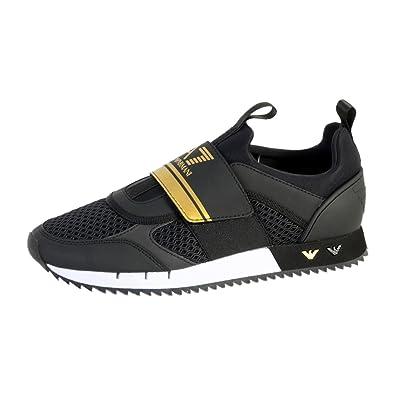 d825a26cdc990 Emporio Armani Basket Ea7 Black   White U  Amazon.fr  Chaussures et Sacs