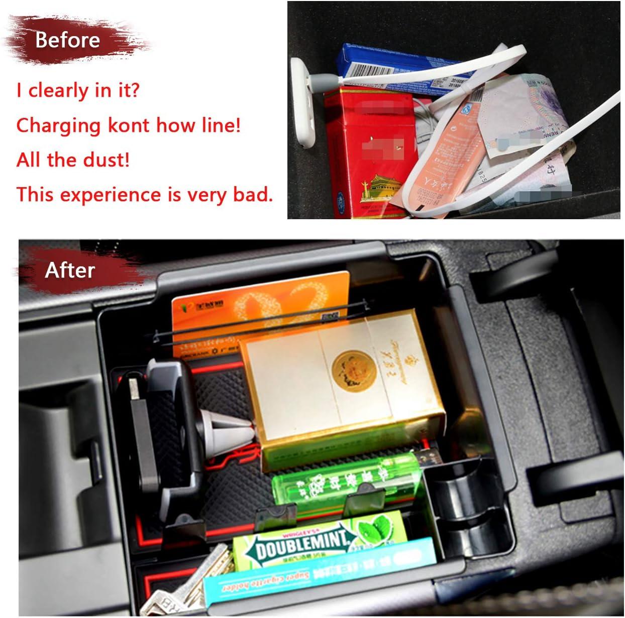 LFOTPP Renault Koleos SUV 2017 Armrest Center Console Organizer Tray Accessories with Sunglasses Holder,Car Accessories Secondary Storage Box