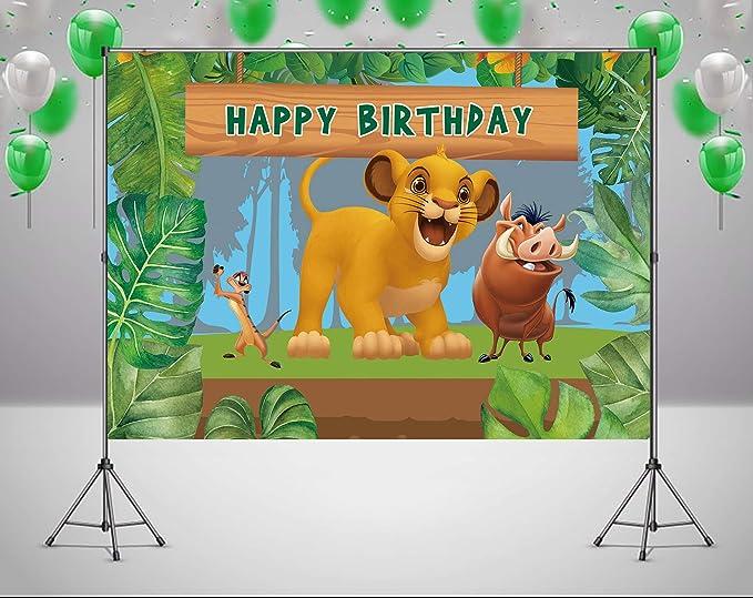 Amazon.com: RUINI - Telón de fondo temático de león de ...