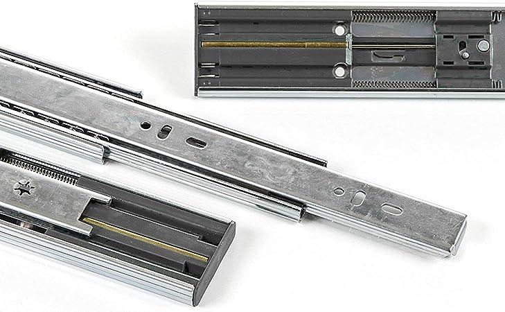 SO-TECH/® Glissi/ères /à Extension Compl/ète Glissi/ères de Tiroir noires 450 mm 2 PI/ÈCES ins/ér/ées /à Billes Capacit/é de Charge 45 Kg 1 paire