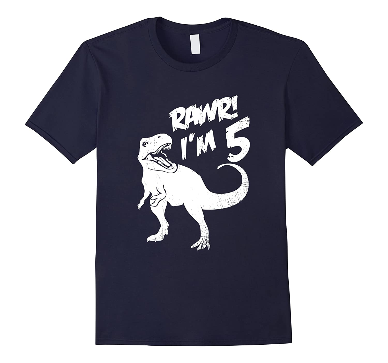 Kids 5Th Birthday Dinosaur Gift T Shirt For 5 Year Old