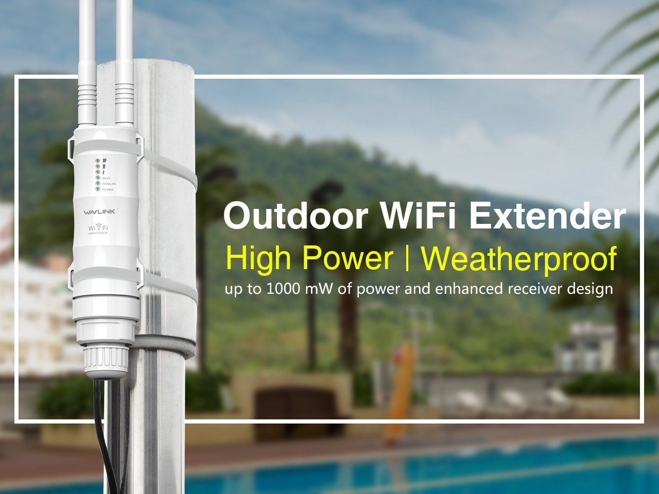 Wisq5300 Is A 5ghz 300mbps Hipower Outdoor Wireless Access Tenda O3 Cpe 24ghz Amazoncom Wavlink High Power Weatherproof Point Repeater Router Wisp 150mbps 433mbps Dual Polarized 1000mw 28dbm