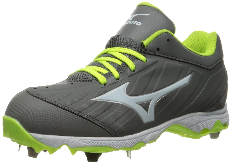 Grey White Mizuno Womens 9-Spike Advanced Sweep 3 Softball shoes