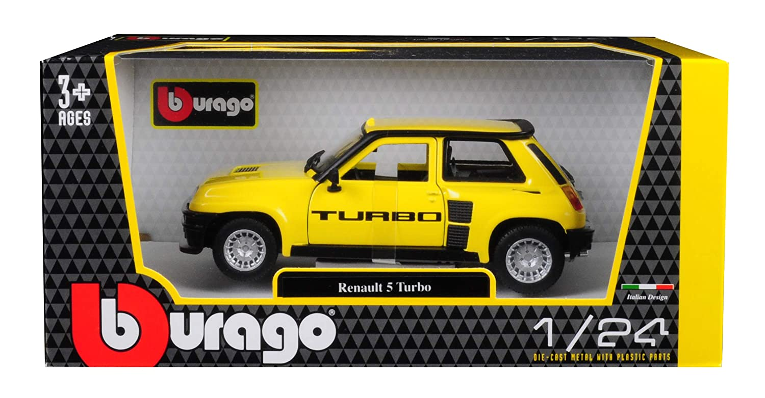 Amazon.com: Renault 5 Turbo Yellow Black Accents 1/24 Diecast Model Car Bburago 21088: Toys & Games