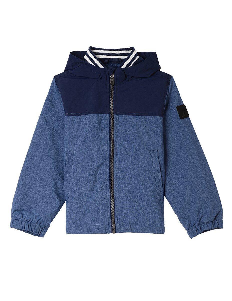 Nautica Big Boys' Signature Shell Jacket, Dark Blue, Large (14/16)