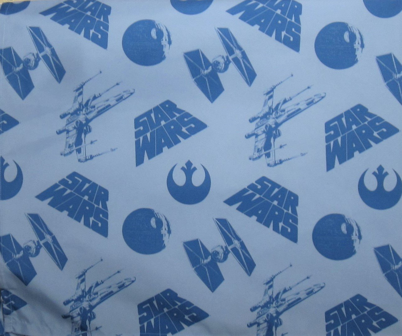 Star Wars Space Logo 100% Polyester (FLAT SHEET ONLY) Size TWIN Boys Girls Kids Bedding by Jay Franco
