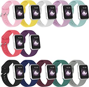 SinJonden 12PCS Strap Compatible with Apple Watch Bands 40mm 44mm 38mm 42mm Men Women,Durable Silicone Wristbands Replacement for Watch SE&Series 6/5/4/3/2/1 (38mm/40mm Small)