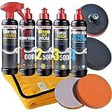 Menzerna 1000 + 2500 + 3500 + Power Lock + Reiniger Auto Polierzubehör Set-MENZ8