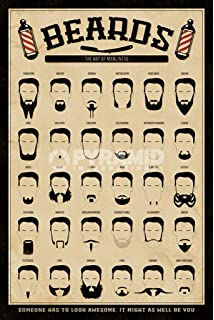 Amazon 4 vintage barber shop art prints shave scissors 8 x 10 beard the art of manliness poster print 24 x 36 malvernweather Images