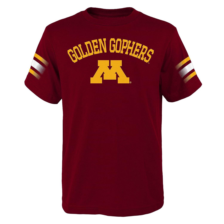 Youth Small NCAA by Outerstuff NCAA Minnesota Golden Gophers Youth Boys First Line Dri-Tek Short Sleeve Tee Garnet 8