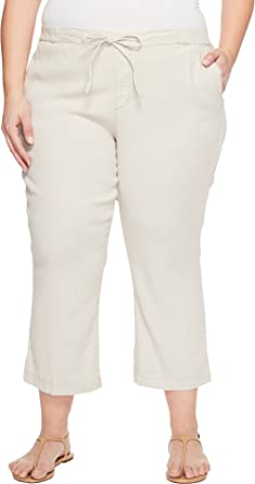 0737f5afc36 NYDJ Plus Size Women s Plue Size Drawstring Ankle Pants in Stone Stone 16W  26 26 at Amazon Women s Clothing store